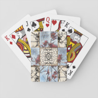 Paneled Abstract Scrollwork Painting Playing Cards