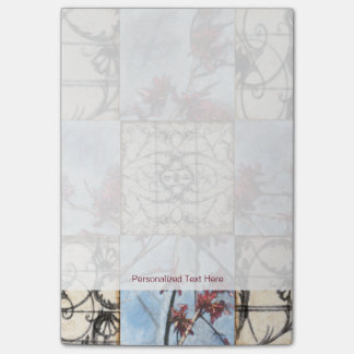 Paneled Abstract Scrollwork Painting Post-it Notes