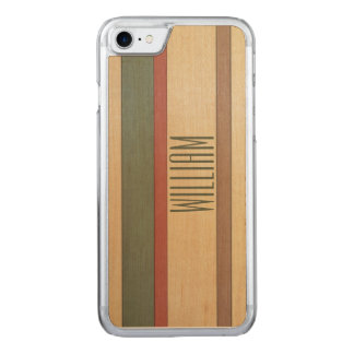 Paneled Stripes Name Template Carved iPhone 8/7 Case