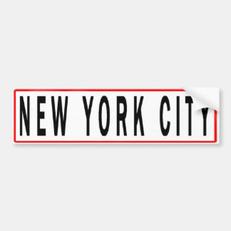 PANELS NEW YORK CITY BUMPER STICKER
