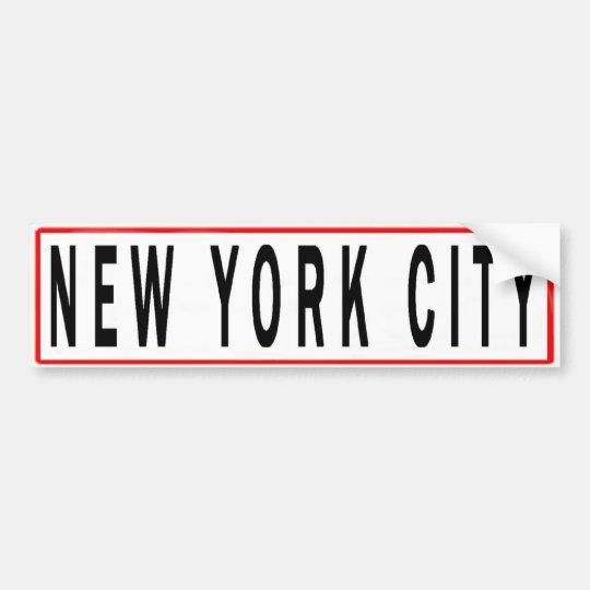 PANELS NEW YORK CITY BUMPER STICKER