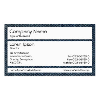 Panels - Old Blue Jeans Pack Of Standard Business Cards