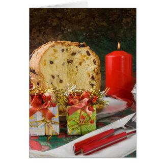Panettone Christmas Greeting Card