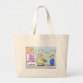 panhandler murder commit bag