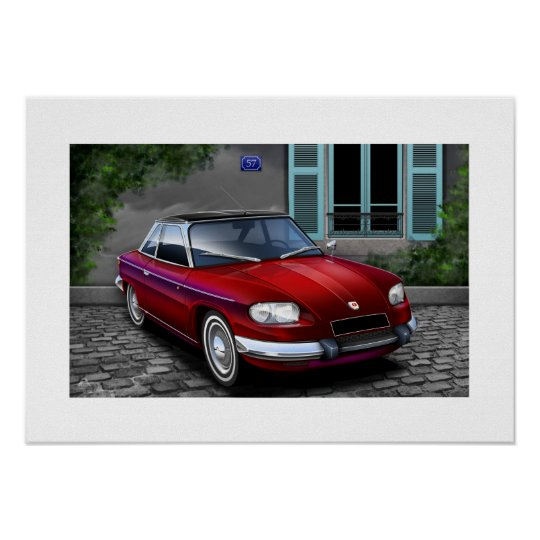 Panhard 24CT Poster Illustration
