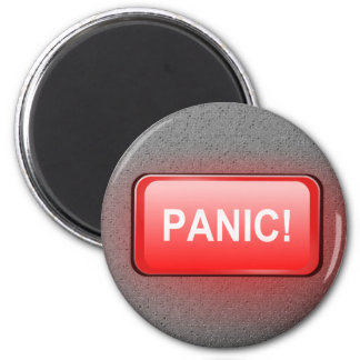 Panic button. 6 cm round magnet