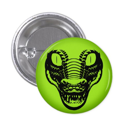 Panic Button Alligator Avatar pin badge
