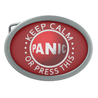 Panic Button belt buckle