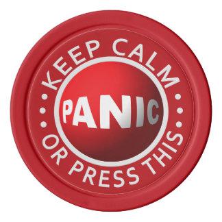 Panic Button custom poker chips