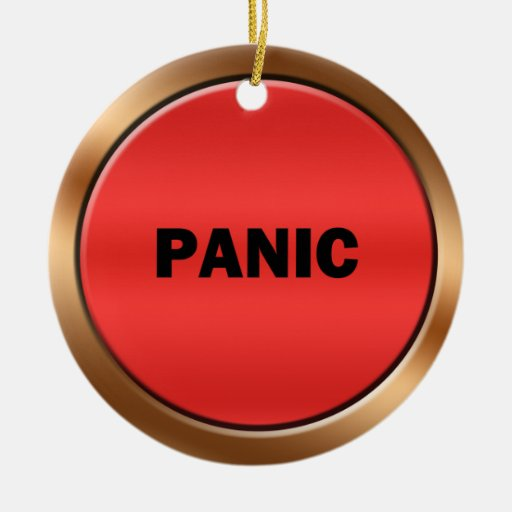 Panic Button Christmas Tree Ornament