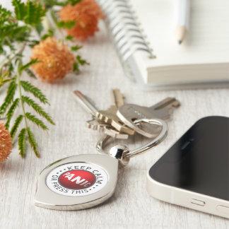 Panic Button key chain Silver-Colored Swirl Key Ring