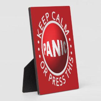 Panic Button plaque