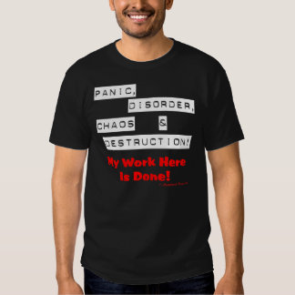 Panic! (Dark) Shirts