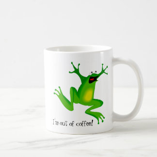 Panic Frog Needs Coffee Coffee Mug
