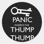 Panic Round Sticker