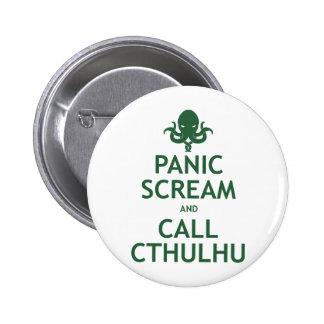 Panic Scream and Call Cthulhu 6 Cm Round Badge