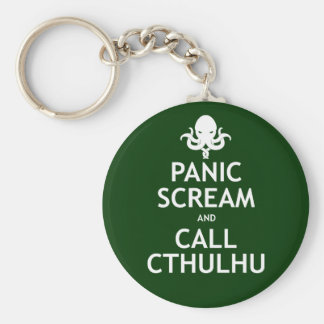 Panic Scream and Call Cthulhu Basic Round Button Key Ring