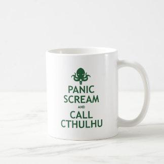 Panic Scream and Call Cthulhu Basic White Mug