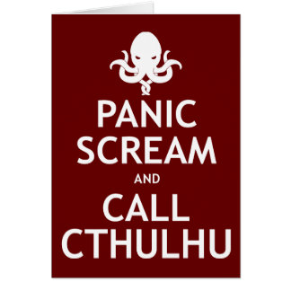Panic Scream and Call Cthulhu Card