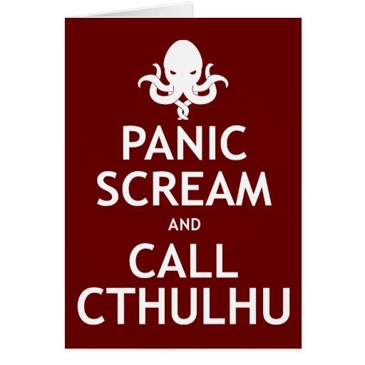 Panic Scream and Call Cthulhu Greeting Cards