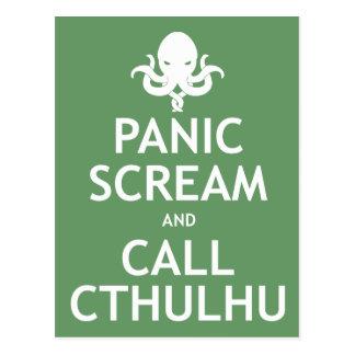 Panic Scream and Call Cthulhu Post Cards