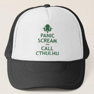 Panic Scream and Call Cthulhu Trucker Hat
