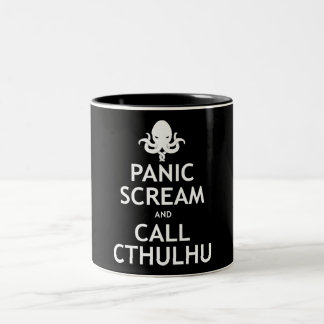 Panic Scream and Call Cthulhu Two-Tone Coffee Mug