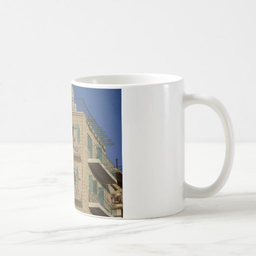 Panited wall of a house in Jerusalem Mugs