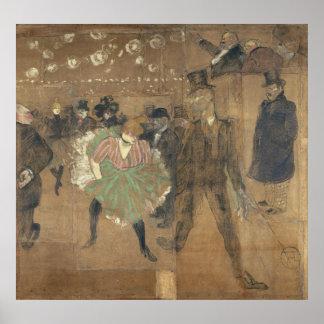 Panneaux pour Baraque de Goulue Toulouse-Lautrec Poster