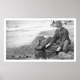 Panning for Gold Alaska 1907 Poster