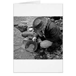 Panning for Gold Black and White Card