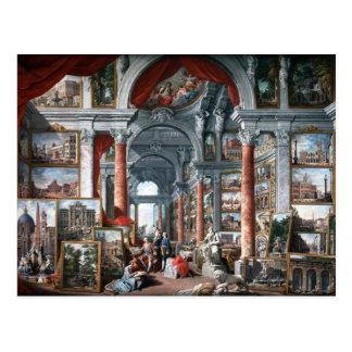 Pannini - Gallery of Views of Modern Rome Postcard