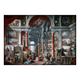 Pannini - Gallery of Views of Modern Rome Poster