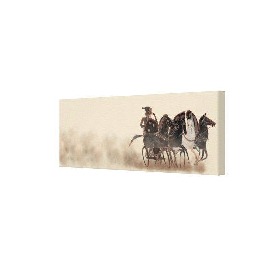 Panoply - Ancient Greek chariot and horses Canvas