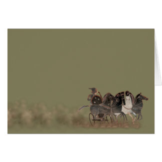 Panoply - Ancient Greek chariot and horses Greeting Card