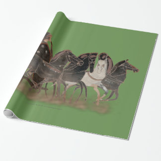 Panoply - Ancient Greek chariot and horses large Wrapping Paper