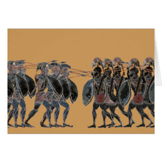 Panoply - Ancient Greek hoplite battle line Greeting Card