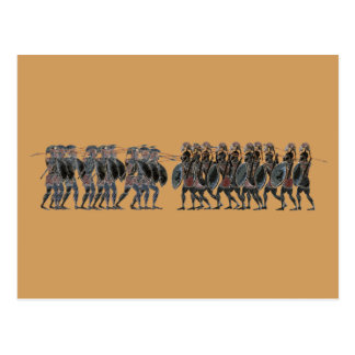 Panoply - Ancient Greek hoplite battle Postcard