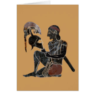 Panoply - Ancient Greek hoplite soldier sitting Card