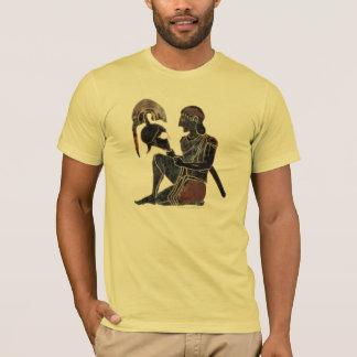 Panoply - Ancient Greek hoplite soldier sitting T-Shirt