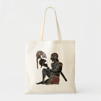 Panoply - Ancient Greek hoplite soldier sitting Tote Bag