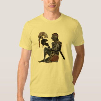Panoply - Ancient Greek hoplite soldier sitting Tshirts