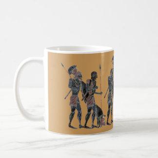 Panoply - Ancient Greek hoplites celebrating Basic White Mug