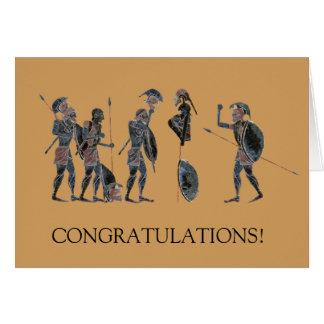Panoply - Ancient Greek hoplites celebrating Card