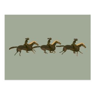 Panoply - Ancient Greek vase art horses & riders Postcard