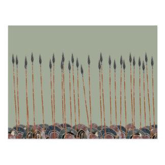 Panoply - Field of Greek hoplite spears Postcard