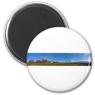Panorama 3 6 cm round magnet