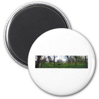 Panorama 9 6 cm round magnet