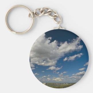 panorama basic round button key ring