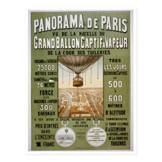 Panorama de Paris Vintage Travel Poster Postcard